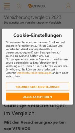 Vorschau der mobilen Webseite www.aspect-online.de, Aspect Online