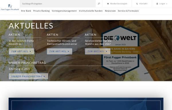Vorschau von www.fuggerbank.de, Fürst Fugger Privatbank Aktiengesellschaft