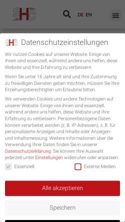 Vorschau der mobilen Webseite www.stolleundheinz.com, SHC Stolle & Heinz Consultants
