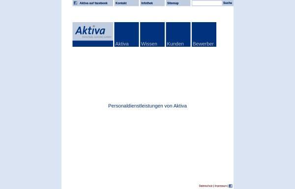 Vorschau von www.aktiva-personal.de, Aktiva Personal Leasing GmbH