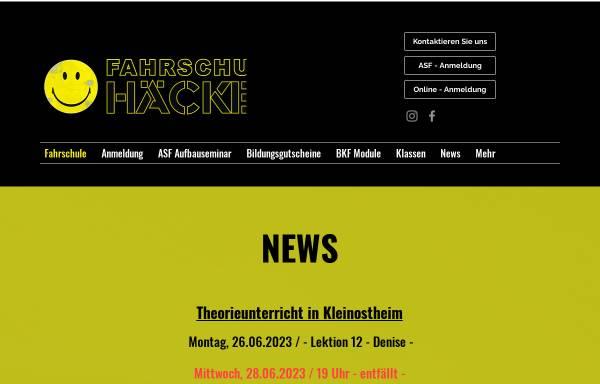 Vorschau von www.fahrschule-haecker.de, Fahrschule Häcker