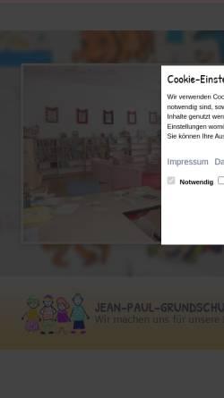 Vorschau der mobilen Webseite www.jp-schule.de, Jean-Paul-Schule