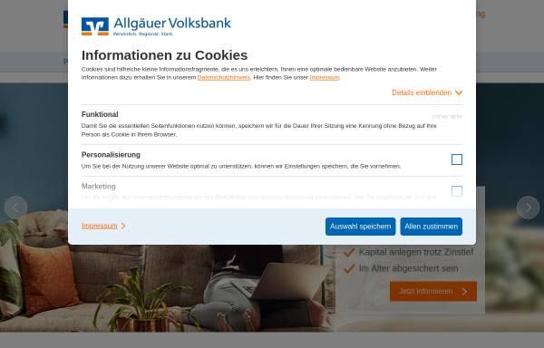 Vorschau von www.allgaeuer-volksbank.de, Allgaeuer Volksbank eG Kempten-Sonthofen