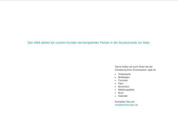 Vorschau von belichtungen.de, DTP und Belichtungsservice GmbH