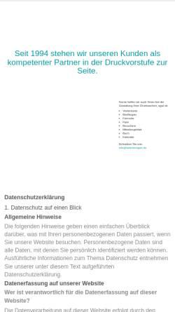 Vorschau der mobilen Webseite belichtungen.de, DTP und Belichtungsservice GmbH