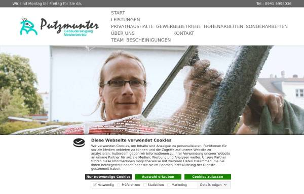 Vorschau von putzmunterteam.de, Putzmunter Gebäudereinigung