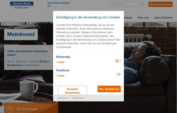 Vorschau von www.sparda-ostbayern.de, Sparda-Bank