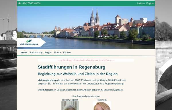Vorschau von www.visit-regensburg.de, Stadtführungen
