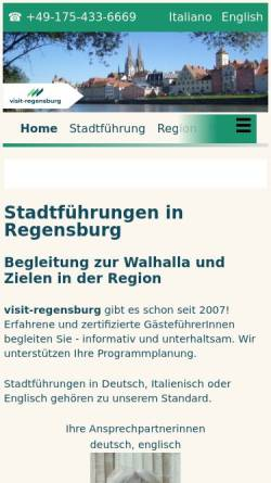 Vorschau der mobilen Webseite www.visit-regensburg.de, Stadtführungen