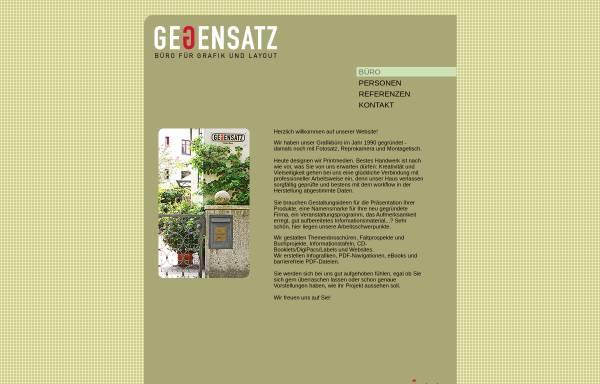 Vorschau von www.gegensatz.com, Gegensatz - Grafik.Büro