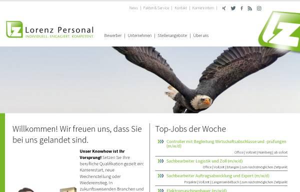 Vorschau von www.lorenz-zeitarbeit.de, Lorenz Zeitarbeit GmbH