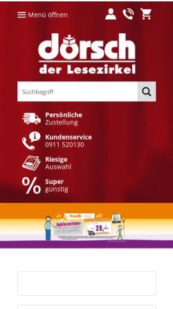 Vorschau der mobilen Webseite www.doersch.de, Lesezirkel Dörsch