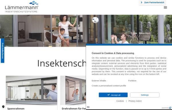 Vorschau von www.laemmermann.de, Lämmermann Insektenschutzsysteme GmbH & Co. KG