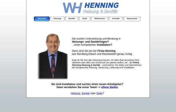 Vorschau von www.firmahenning.de, Werner Henning