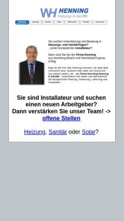 Vorschau der mobilen Webseite www.firmahenning.de, Werner Henning