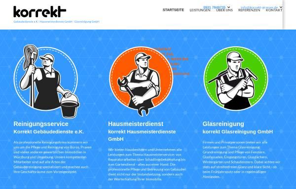 Vorschau von www.korrekt-grasser.de, Korrekt Gebäudedienste-Hausmeisterdienste GmbH