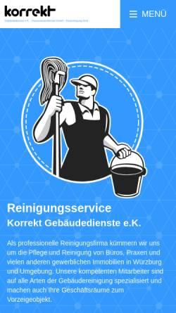 Vorschau der mobilen Webseite www.korrekt-grasser.de, Korrekt Gebäudedienste-Hausmeisterdienste GmbH