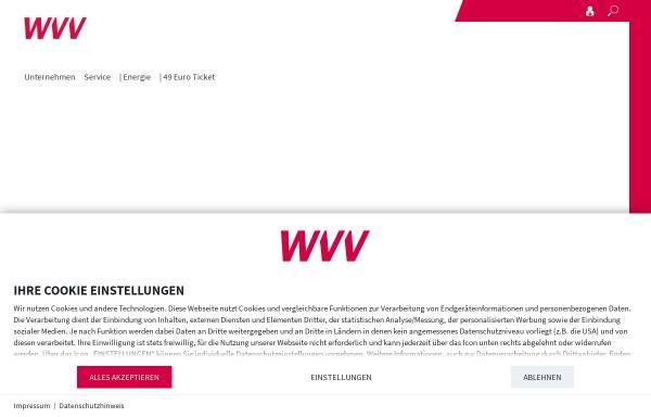 Vorschau von www.wvv.de, Würzburger Versorgungs- und Verkehrs-GmbH