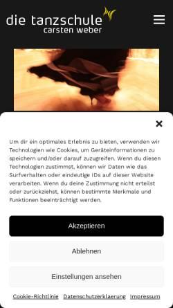 Vorschau der mobilen Webseite www.die-tanzschule.de, Tanzschule Carsten Weber