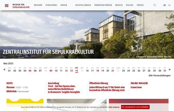 Vorschau von www.sepulkralmuseum.de, Museum für Sepulkralkultur