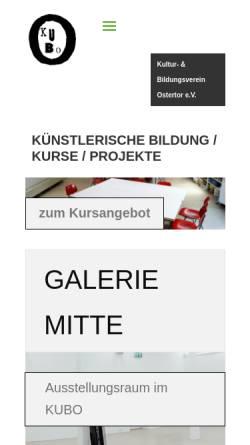 Vorschau der mobilen Webseite www.kubo.de, KUBO Bremen