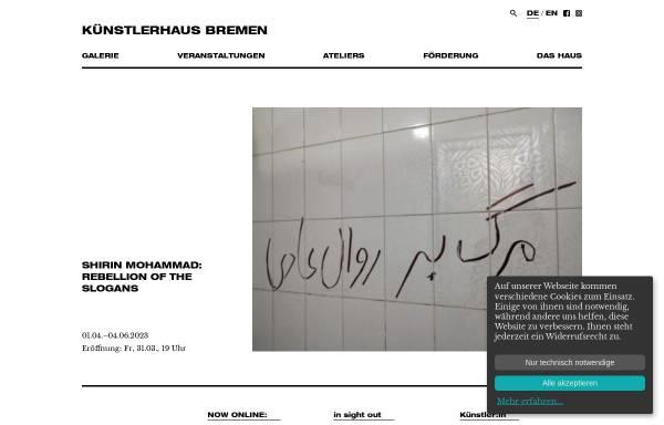 Vorschau von www.kuenstlerhausbremen.de, KünstlerHaus Bremen