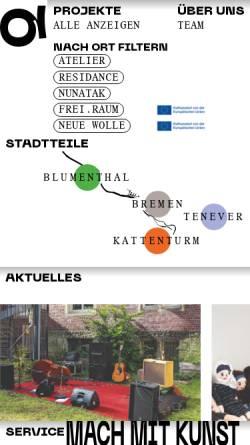 Vorschau der mobilen Webseite www.quartier-bremen.de, QUARTIER e.V.