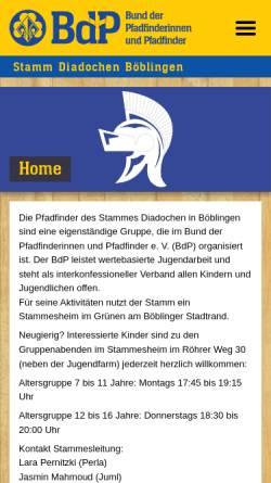 Vorschau der mobilen Webseite www.diadochen.de, Diadochen