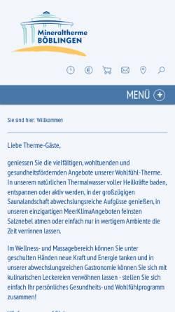 Vorschau der mobilen Webseite www.mineraltherme-boeblingen.de, Mineraltherme Böblingen