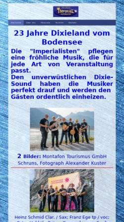 Vorschau der mobilen Webseite www.die-imperial-jazzband.de.rs, Imperial Jazzband