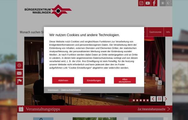 Vorschau von www.buergerzentrum-waiblingen.de, Bürgerzentrum