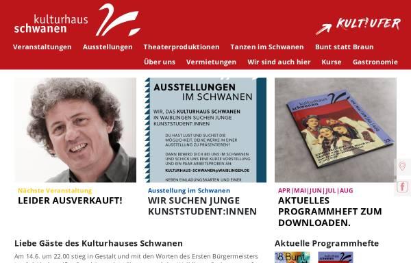 Vorschau von www.kulturhaus-schwanen.de, Kulturhaus Schwanen