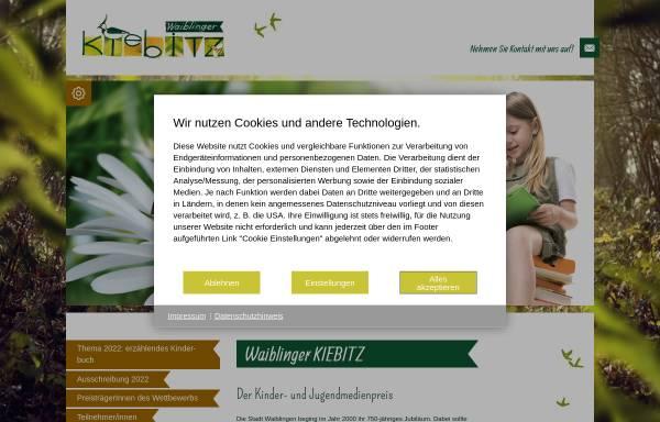 Vorschau von kiebitz.waiblingen.de, Der Waiblinger Kibitz
