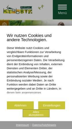 Vorschau der mobilen Webseite kiebitz.waiblingen.de, Der Waiblinger Kibitz