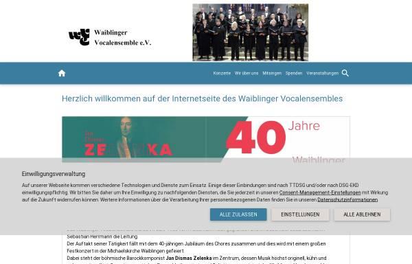 Vorschau von www.waiblinger-vocalensemble.de, Waiblinger Vocalensemble