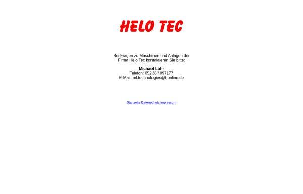 Vorschau von www.helo-tec.com, HELO TEC Automation GmbH & Co. KG