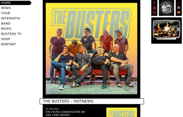 Vorschau von www.busterland.de, The Busters Homepage