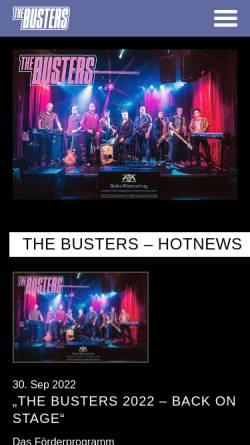 Vorschau der mobilen Webseite www.busterland.de, The Busters Homepage