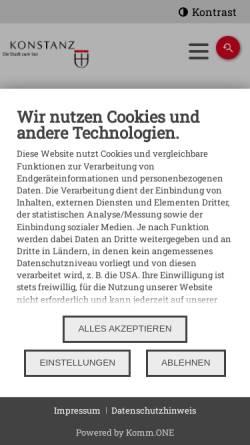 Vorschau der mobilen Webseite stadt.konstanz.de, Rosgartenmuseum