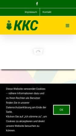 Vorschau der mobilen Webseite www.kkcgt.de, Kattenstrother Karnevals-Club e.V. (KKC)