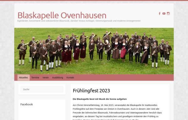 Vorschau von www.blaskapelle-ovenhausen.de, Blaskapelle Ovenhausen e.V.