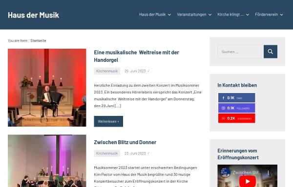 Vorschau von www.kirchenmusik.eilshausen.net, Kirchenmusik in Eilshausen