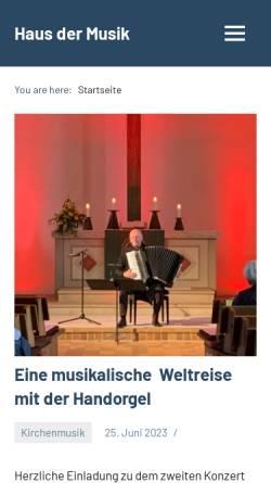 Vorschau der mobilen Webseite www.kirchenmusik.eilshausen.net, Kirchenmusik in Eilshausen