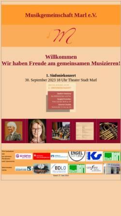 Vorschau der mobilen Webseite musikgemeinschaft-marl.de, Musikgemeinschaft Marl e. V.