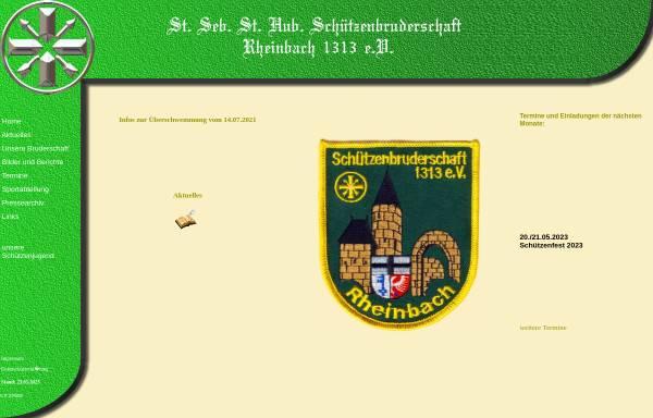Vorschau von schuetzen-rheinbach.de, St. Sebastianus- und St. Hubertus-Schützenbruderschaft 1313 e.V. Rheinbach