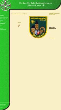 Vorschau der mobilen Webseite schuetzen-rheinbach.de, St. Sebastianus- und St. Hubertus-Schützenbruderschaft 1313 e.V. Rheinbach
