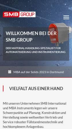 Vorschau der mobilen Webseite www.smb-group.de, SMB International GmbH