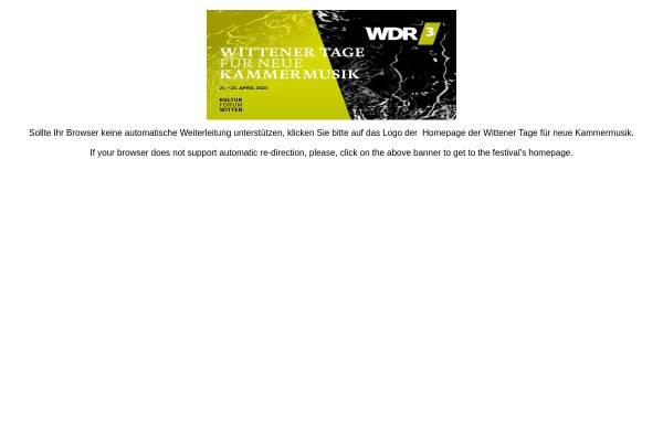 Vorschau von wittenertage.de, Kulturforum Witten