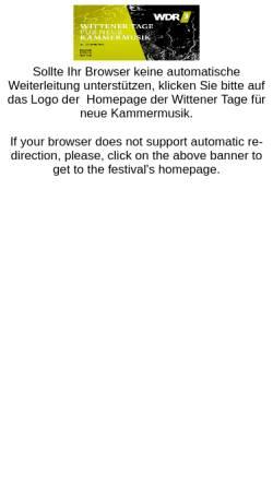 Vorschau der mobilen Webseite wittenertage.de, Kulturforum Witten