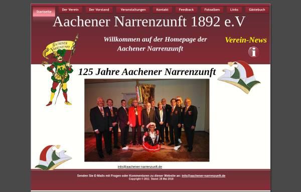 Vorschau von www.aachener-narrenzunft.de, Aachener Narrenzunft 1829 e.V.